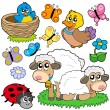 Various spring animals - Stockvektor