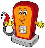 Cartoon gas station — Stock Vector