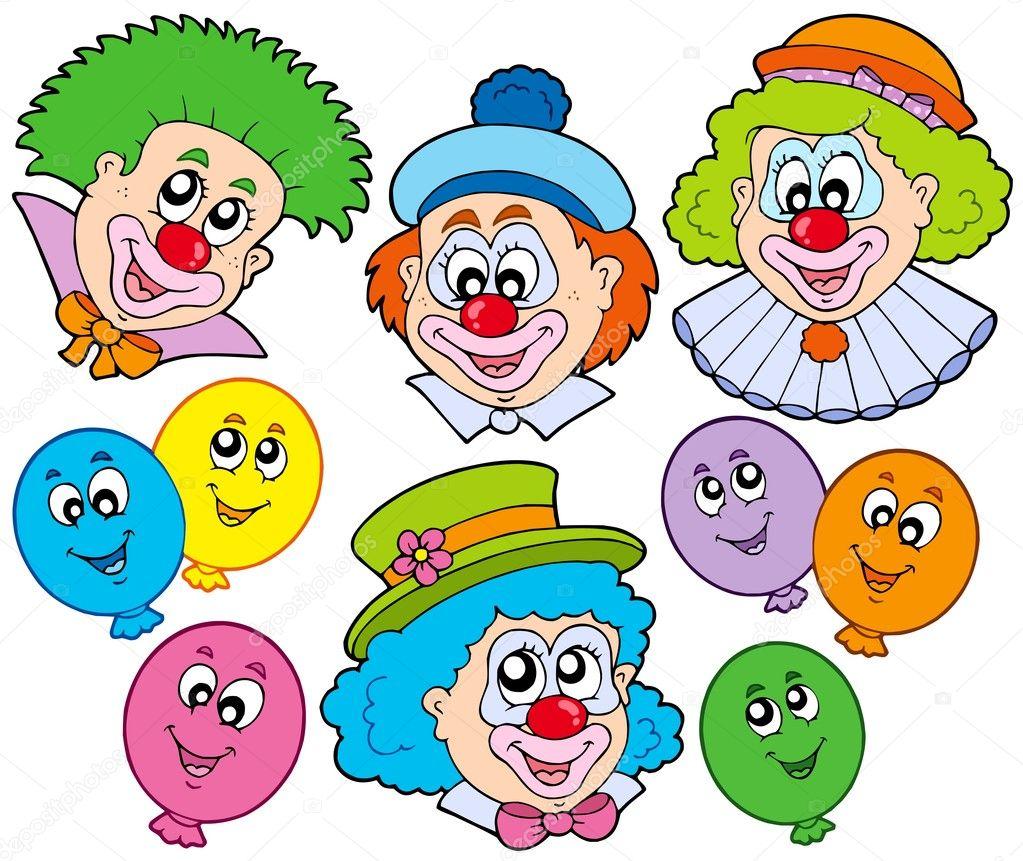lustige clowns sammlung stockvektor clairev 2009083. Black Bedroom Furniture Sets. Home Design Ideas
