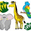 Royalty-Free Stock Vector Image: African animals collection 3