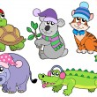 Royalty-Free Stock Vector Image: Animals in winter clothes collection 1