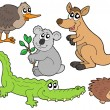Stock Vector: Australianimals collection