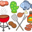 Stock Vector: Barbeque collection