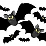 Bats silhouettes — Stock Vector