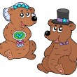 Bear wedding - Stock Vector