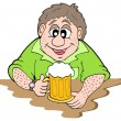 Stock Vector: Beer drinker