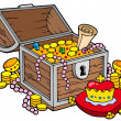 Stockvektor : Big treasure chest