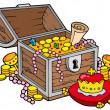 Big treasure chest — Stock Vector