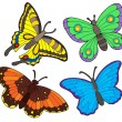 Royalty-Free Stock Vector Image: Butterfly collection