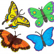 Stock Vector: Butterfly collection