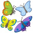 Stock Vector: Butterfly collection 2