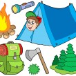 Royalty-Free Stock Vector Image: Camping collection
