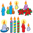 Stock Vector: Candles collection