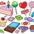 Candy and cakes collection — Stock Vector