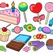 Stock Vector: Candy and cakes collection