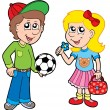 Royalty-Free Stock Vector Image: Cartoon boy and girl