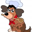 Royalty-Free Stock Vector Image: Cartoon dog chef with spoon