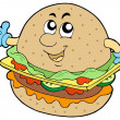 Cartoon hamburger - Stock Vector