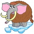Stock Vector: Cartoon mammoth