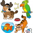 Royalty-Free Stock Vector Image: Cartoon pets collection