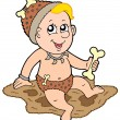 Stock Vector: Cartoon prehistoric baby