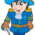 Cartoon soldier in blue uniform — Stock Vector #2148166