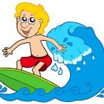 Cartoon surfer boy — Stock Vector #2148192