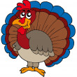 Cartoon turkey — Vector de stock