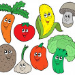 Stock Vector: Cartoon vegetable collection 1
