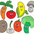 Cartoon vegetable collection 1 - Stock Vector