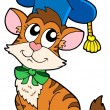 Royalty-Free Stock Vectorielle: Cat teacher in hat