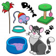 Stock Vector: Cats collection