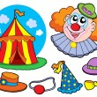Royalty-Free Stock Vector Image: Circus clown collection