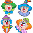 Clowns head collection — Stock Vector #2148384