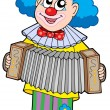 Clown with accordion - Stock Vector