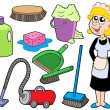 Royalty-Free Stock Vector Image: Cleaning collection 1