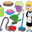 Stock Vector: Cleaning collection 1