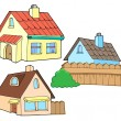 Collection of various houses — Stock Vector