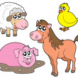 Country animals collection — Stock Vector
