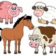 Stock Vector: Country animals collection 2
