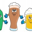 Royalty-Free Stock Imagem Vetorial: Cute beer collection