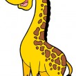 Cute cartoon giraffe - Stock Vector