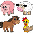 Royalty-Free Stock Vector Image: Cute country animals collection