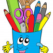 Cute cup with crayons — Stockvector #2148988