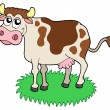 Stock Vector: Cute cow