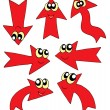 Royalty-Free Stock Vector Image: Cute red arrows