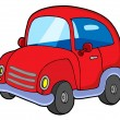 Royalty-Free Stock Vector Image: Cute red car