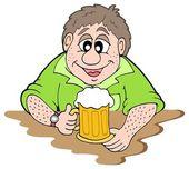 Beer drinker — Stock Vector