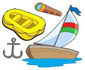 Boat and sailing collection — Stock Vector