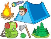 Camping collection — Stock Vector